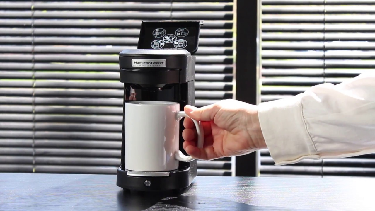 Hamilton Beach 1 Cup Pod Coffee Maker Youtube