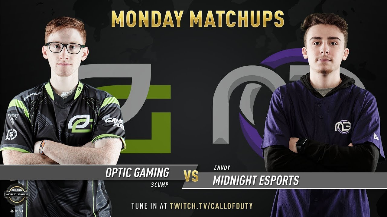 OpTic Gaming vs Midnight Esports | CWL Pro League 2019 | Division A | Week 1 | Day 1