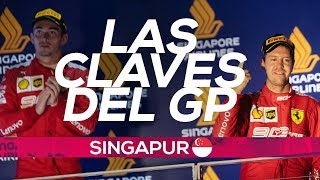 Vettel gana a Leclerc con la estrategia de Ferrari | Resumen GP Singapur F1 2019