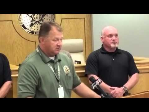 Kyle Holman News Conference with Sheriff Rick Silver