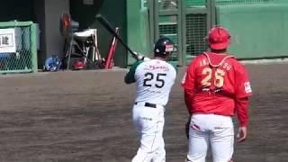 村田修一 選手 2018/06/24 第5号3ランホームラン vs福島at楢葉(栃木ゴールデンブレーブス)