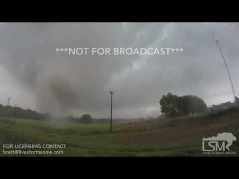 04-29-2017 Eustace, TX - Intense Tornado on GoPro - StormWarriors.TV