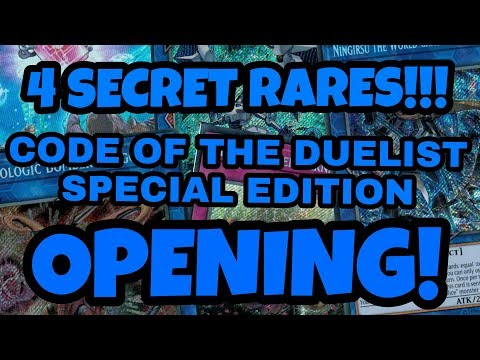 Yu-Gi-Oh! Code Of The Duelist Special Edition Box Opening!! 4 SECRET RARES PULLED!!!