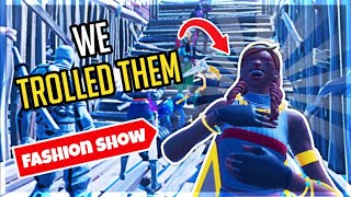 TROLLING IN STREAMERS FORTNITE FASHION SHOWS