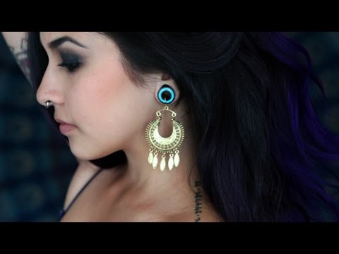 How I Wear Earrings With Stretched Ears Youtube