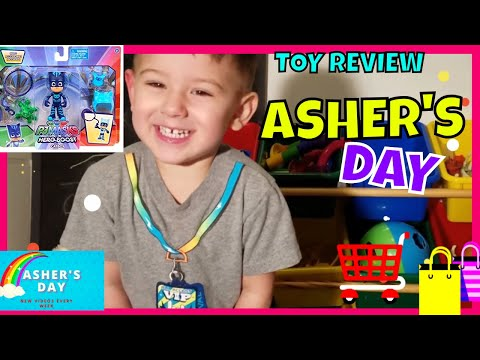 ASHER'S DAY TOY REVIEW PJ MASKS HERO BOOST CATBOY!