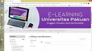 Download Tutorial Penambahan Daftar Hadir pada E Learning Unpak   Mahipal, SH , SH