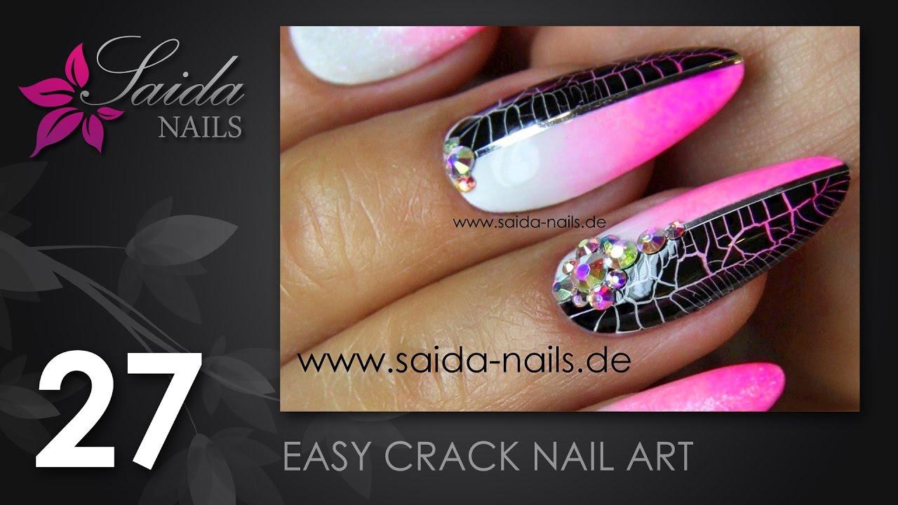 Easy Crack Nail Art #4 (Saida Nails | Nailart leicht gemalt) - YouTube