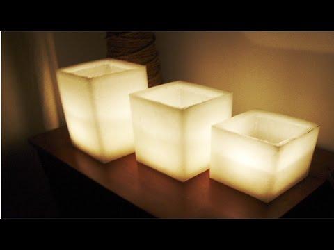 Como Fazer velas Artesanais Decorativas -  Luminárias
