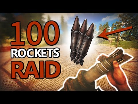 Rust | THE 100 ROCKET RAID THAT SHOCKED THE SERVER (noclickbait) thumbnail