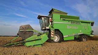 Rare Deutz-Fahr TopLiner 8 XL combine cutting wheat   Harvest 2015