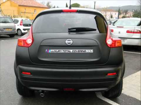 nissan juke total covering noir mat wmv youtube. Black Bedroom Furniture Sets. Home Design Ideas