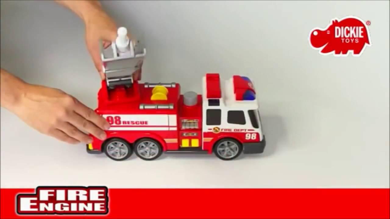 Пожарная машина Dickie на ду, св., зв., вода, многофункциональный 62 см