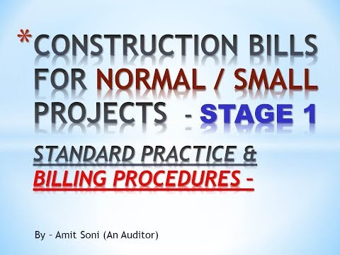 How to Make Construction RA Bills - Initial Procedure and Basic of Construction Bills