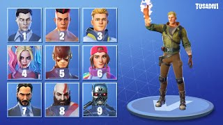GUESS THE FORTNITE SKIN WATCHING THE EMOTE - FORTNITE CHALLENGE | tusadivi