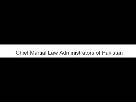 chief Martial Law and Administrators and chief Executive, Lecture 4