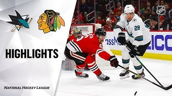 NHL Highlights | Sharks @ Blackhawks 3/11/20