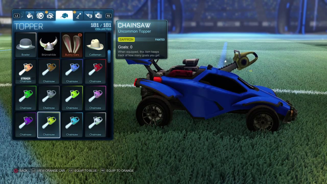 rocket league painted chainsaw set youtube rh youtube com