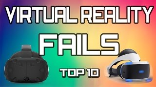 TOP 10 Virtual Reality FAILS - Funny VR Reactions and falls