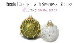 Beaded Ornament with Swarovski Bicones