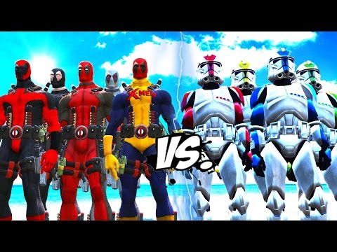 DEADPOOL TEAM VS CLONE TROOPER ARMY - EPIC BATTLE