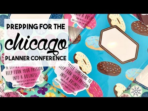 PREPPING FOR THE CHICAGO PLANNER CONFERENCE | February 15, 2018