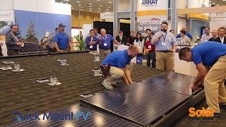 Quick Mount PV installs Quick Rack live at Intersolar