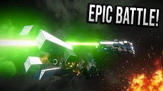 EPIC LASER-LANCE BATTLE! - Space Engineers Battles!