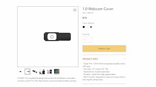 Webcam Cover 1.0