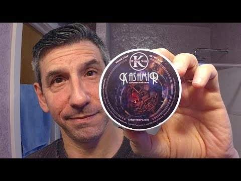 "K Shave Worx ""Kashmir"" shave soap- Yaqi DE razor and synthetic brush"