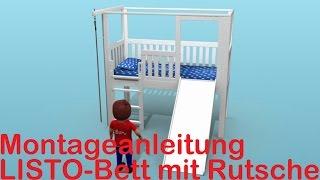 Bauanleitung Kinderbett LISTO mit Rutsche