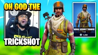 Daequan GETS TRICKSHOTTED By This Rare AERIAL ASSAULT TROOPER Skin | Fortnite Daily Funny Moments