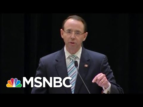 Rod Rosenstein Makes A Stand Against President Trump\'s Congress Interlopers | Rachel Maddow | MSNBC
