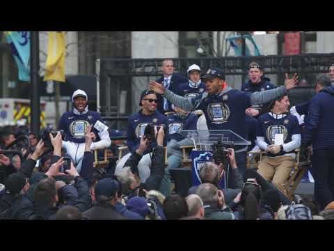 Phil Booth speech at the 2018 Villanova Championship Parade