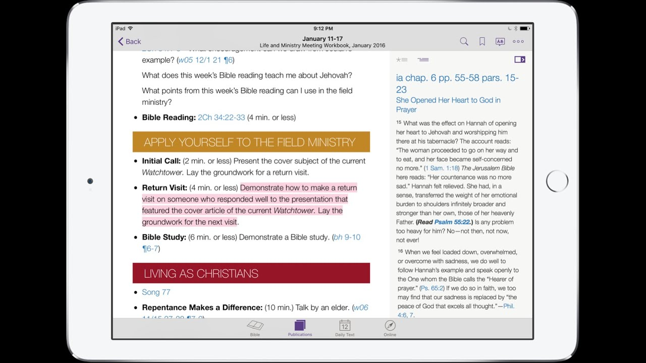 How to Use the JW Library App Part 4: Highlighting