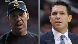 LUKE WALTON RESPONDS TO LAVAR BALL SAYING THE LAKERS PLAYERS DON'T WANT TO PLAY FOR HIM ANYMORE!