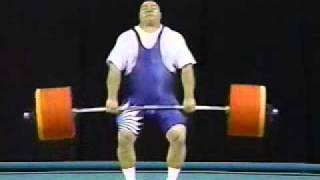Chemerkin Clean and Jerk Olympic Weightlifting World Record Atlanta 1996