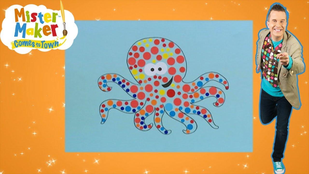 👨🎨 Mister Maker Hindi   हिंदी   Octopus Picture! 🐙   कैसे बनाना है