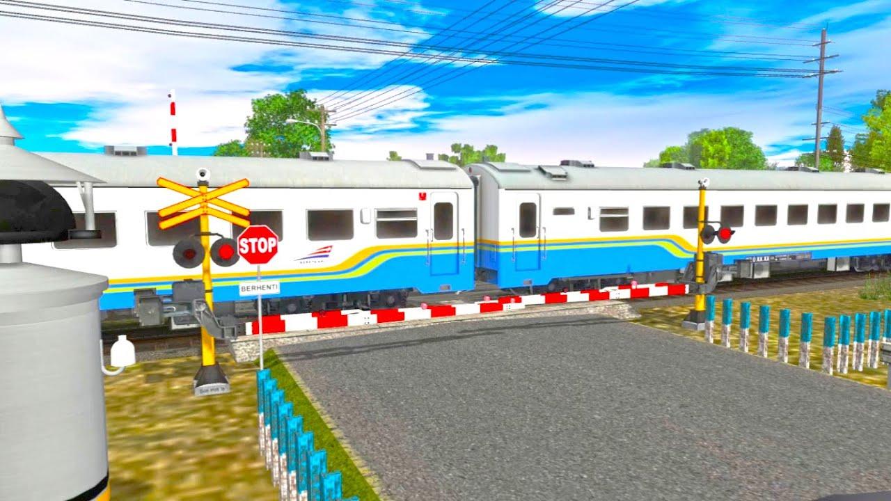 Trainz Simulator Indonesia : Kompilasi Perlintasan Kereta Api Eps 123