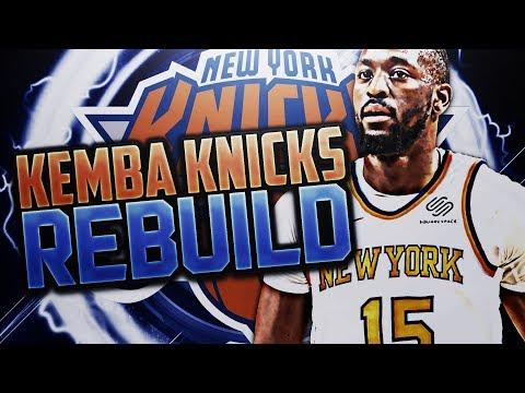 KEMBA WALKER KNICKS REBUILD!! NBA 2K18