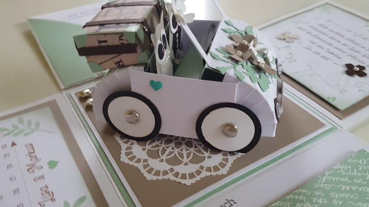 Hochzeitsauto Geldgeschenk Vorlage  Hochzeit