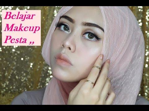 Belajar makeup pesta & tutorial hijab pesta ( Ayyunazzuyyin)