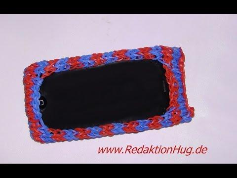 how to make loom band phone covers