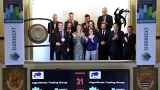 Algorithmic Trading Group, Ltd. luidt gong als nieuwe member Euronext