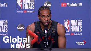 NBA Finals: Kawhi Leonard says he feels no added pressure to win Game 5