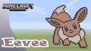 Minecraft: Pixel Art Tutorial and Showcase: Eevee (Pokemon)