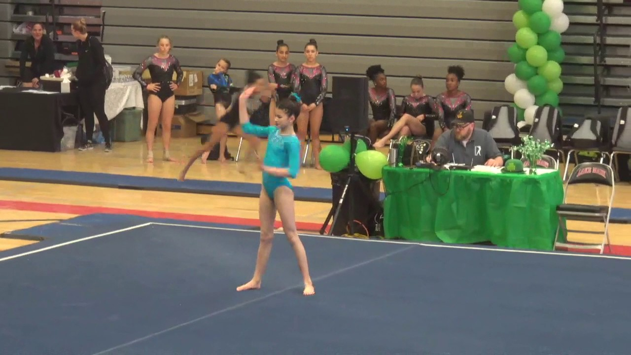 1st Place USAG Level 7 Floor Routine 2017| Leprechaun Classic ...