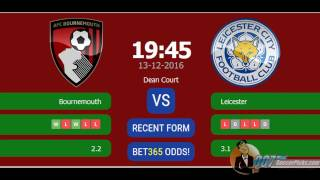 Bournemouth vs Leicester PREDICTION (by 007Soccerpicks.com)