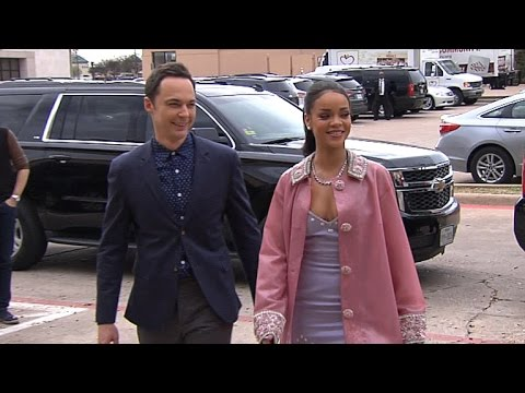 Rihanna, Jim Parsons Surprise Deserving Woman at 'Home' Premiere
