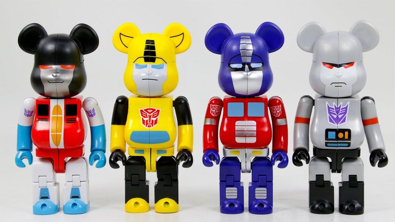 4e8b1128 Transformers BearBrick Optimus Prime Bumblebee Megatron Starscream Bear  Transformation Robot Toys